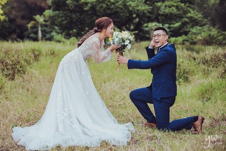 【婚紗】森林小清新  草地 海灘  唯美浪漫