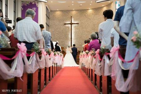 趙喵喵婚禮紀實|李桀 + 宛芯|高雄鼎金教會證婚|婚禮攝影|高雄婚攝