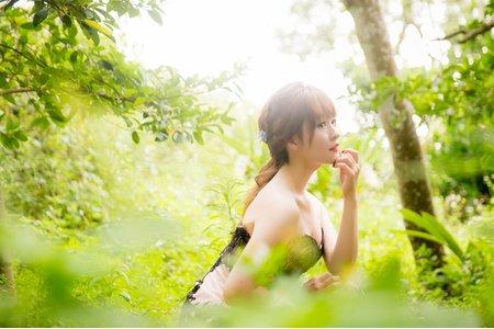 黑森林 逆光夢幻婚紗