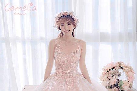昆娜婚紗:自創品牌:Camelia_櫻花系列禮服