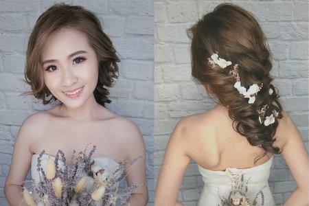 超甜美韓妝和編髮