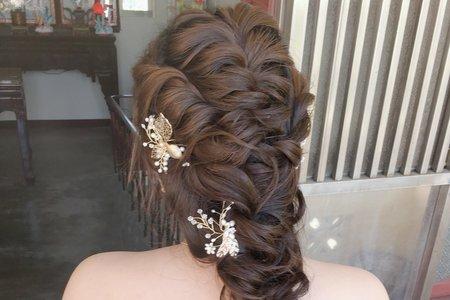 超美的婚宴編髮造型