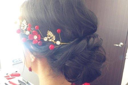 劉小姐靦腆的女孩-現場婚禮