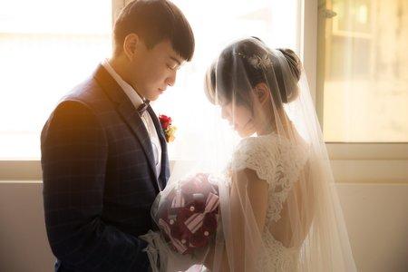 迎娶+教會儀式+午宴 心園婚宴會館 南投聖教會