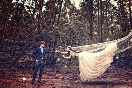 黑森林漂浮婚紗