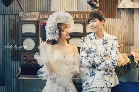 韓式復古婚紗