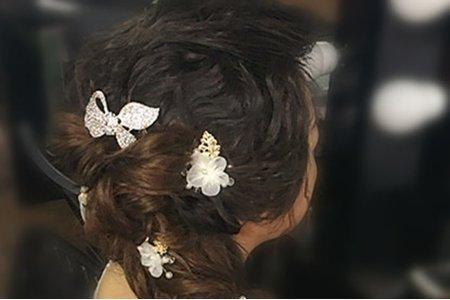 瑋瑋短髮新娘之接髮變化造型1