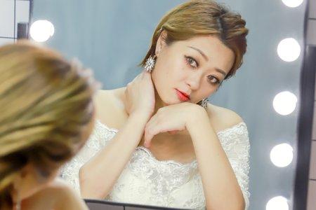 ღ短髮新娘造型