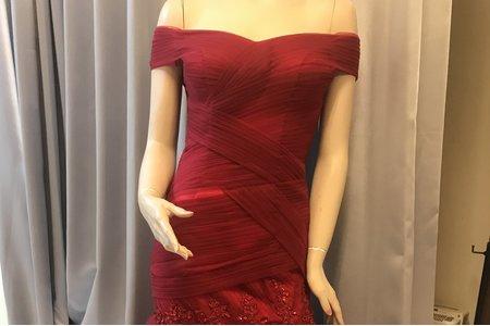 新款紅色禮服