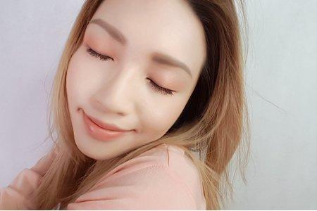 清新微甜水蜜桃色調妝容