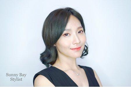 韓式短髮造型妝容