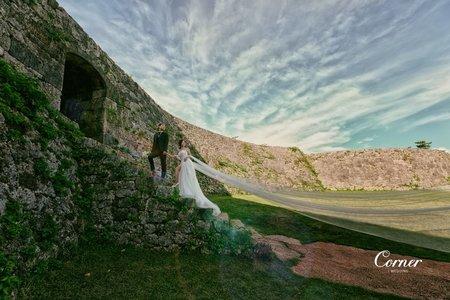 沖繩婚紗-賴長島/壺屋通/座喜味城/美國村 沖繩婚紗-攝影:大仁 / 造型:多多