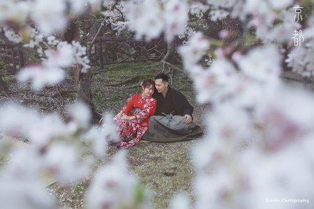 日本櫻花和服