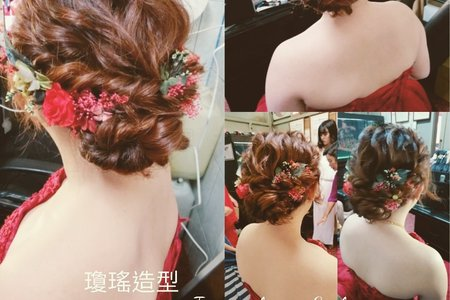 2019/04/06新娘文定造型/瓊瑤造型Ivy make up
