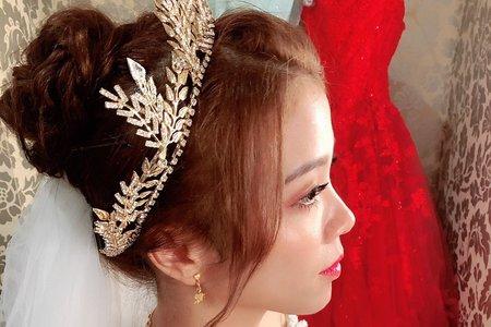 韓式女王甜美風~新娘現場紀實