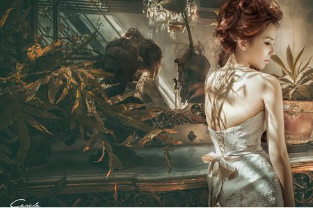 高雄自助婚紗 古典婚紗 油畫風 女攝影師小喬