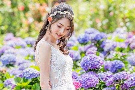 繡球花 浪漫公主頭