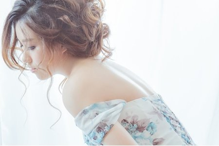 法式浪漫/輕柔盤髮