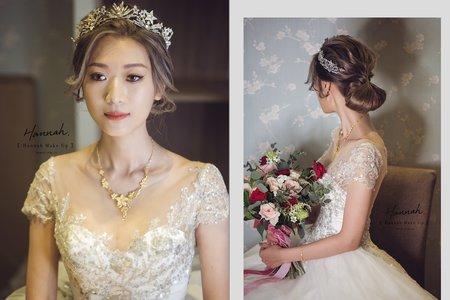 《婚宴造型》進場白紗低髻皇冠造型