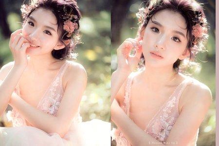 婚紗造型|溫暖的自然系-全糖女孩 詩涵