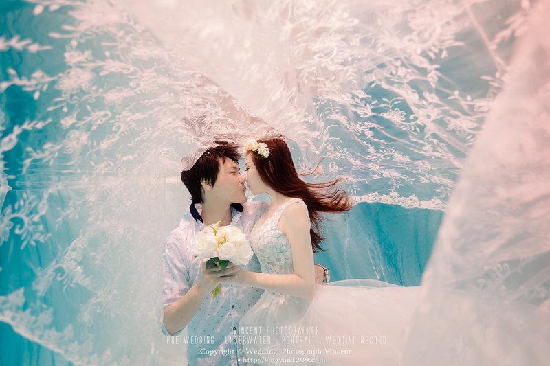 高雄水中婚紗 / 台灣水底婚紗作品