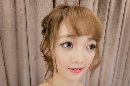 Tifa makeup~大眼娃娃妝,日式抽絲盤髮