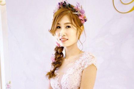 Tifa makeup studio~珮玟新娘訂婚/乾燥花浪漫編髮
