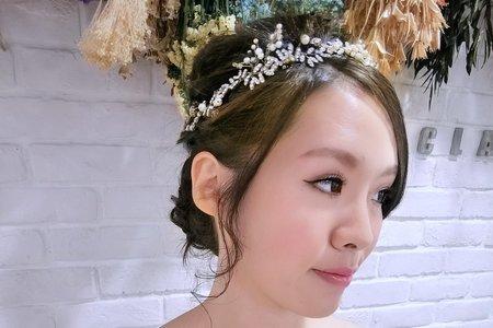 Tifa makeup~單眼皮調整,放大妝容台中新秘