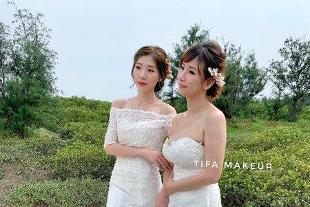 Tifa makeup| 閨蜜婚紗寫真,閨蜜外拍