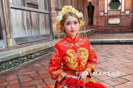 Tifa makeup/ 中式秀禾服婚紗,龍鳳掛,古式造型新秘