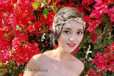 Tofa make up| 復古婚紗,外拍造型