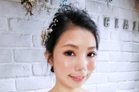 Tifa makeup | 優雅盤髮、氣質黑髮新娘造型
