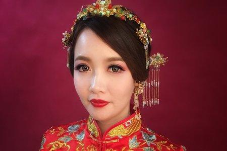 中國風秀禾服造型~噴槍底妝