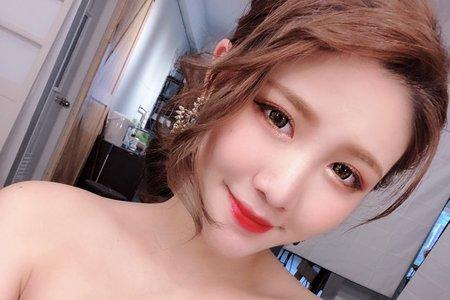 優雅造型 粉橘色系眼妝