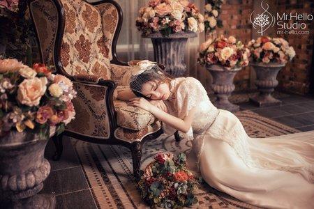 復古婚紗造型