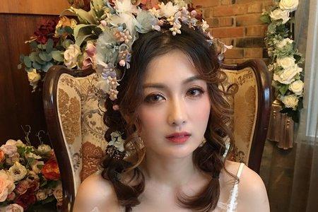 甜美日系編髮造型
