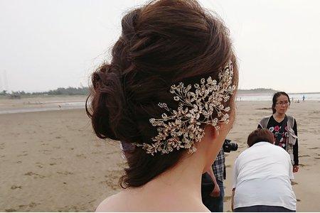新娘甜美側邊造型