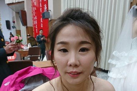 108/11/15陸軍證婚新娘造型