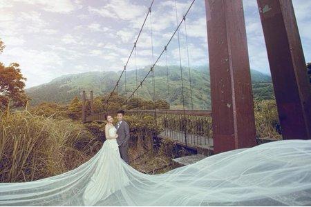小晞新娘秘書-婚紗外拍(陽明山冷水坑#H2O手工婚紗)