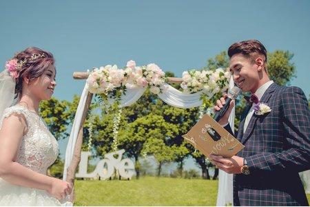 晶麒莊園 |戶外證婚|婚攝推薦|誓詞|Lun&Ting