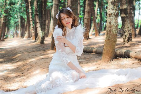 舒晴天使婚紗Shu Sunny makes the wedding dress