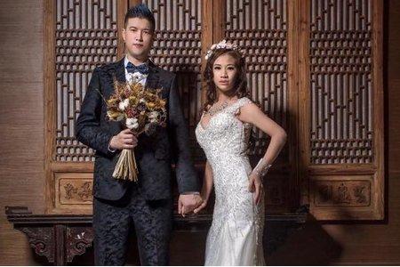 林敬堯&Elaine Tao結婚宴客造型
