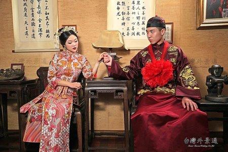 中式婚紗 l 漢服寫真 l 港式禮服