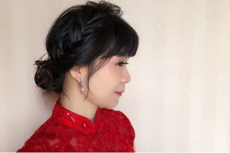 涵的中式單妝造型
