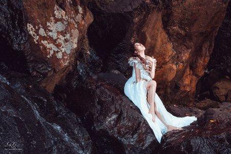 仙氣羽毛系婚紗照