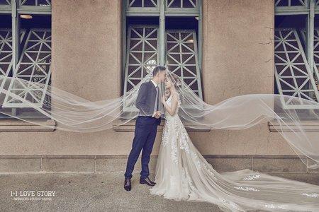 台北婚紗景點推薦 | 建築之美 | 1+1手工婚紗