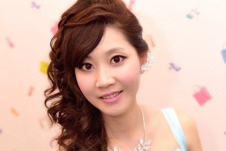 編髮 浪漫 甜美風  彰化花壇新娘秘書