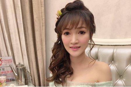 Ting婷 make up /桃園台北宜蘭新秘/甜美側編編髮造型