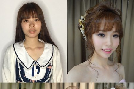 日系甜美盤髮造型