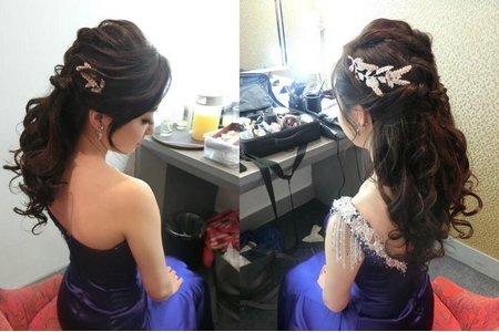 寶藍色禮服公主造型
